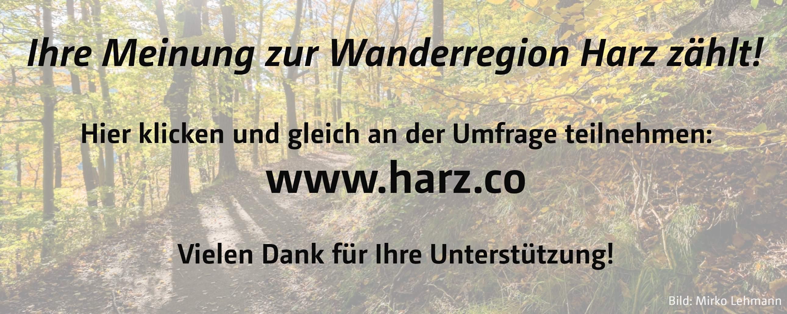 Befragung Wanderwege Harz