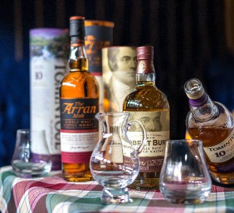 Verschiedene Whisky Sorten