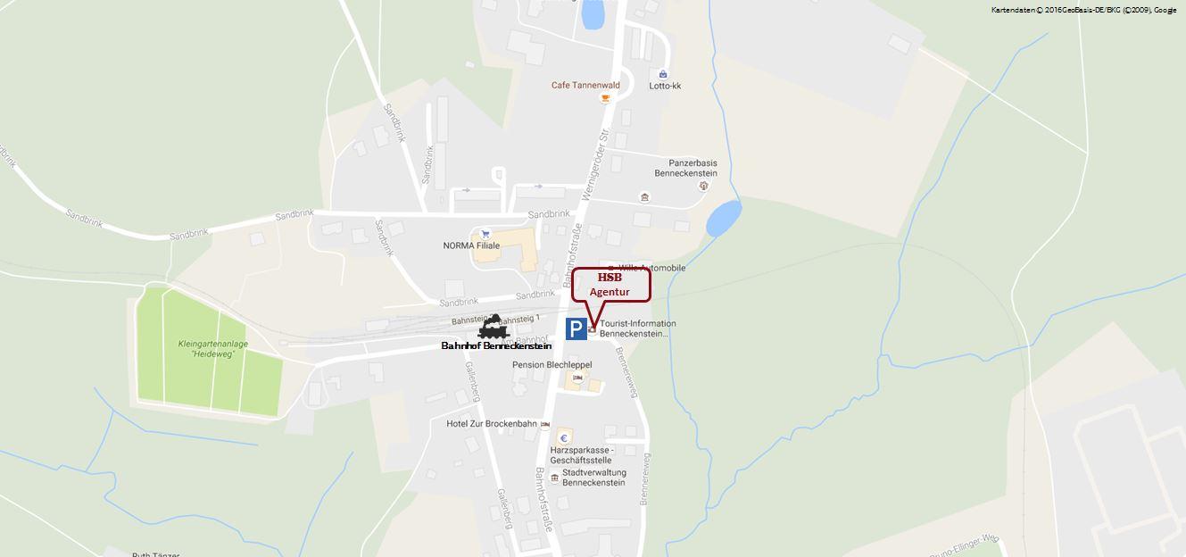 Kartenausschnitt Agentur Benneckenstein