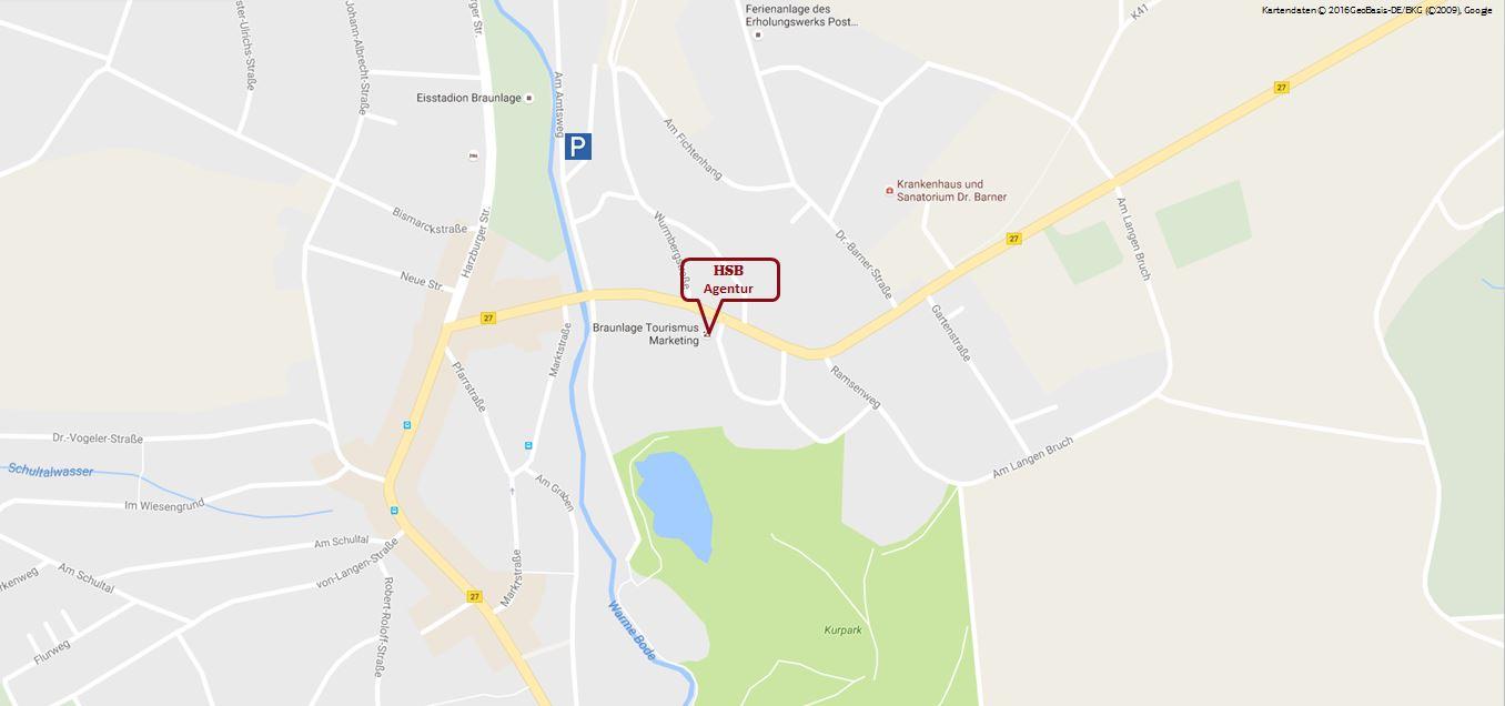 Kartenausschnitt Agentur Braunlage