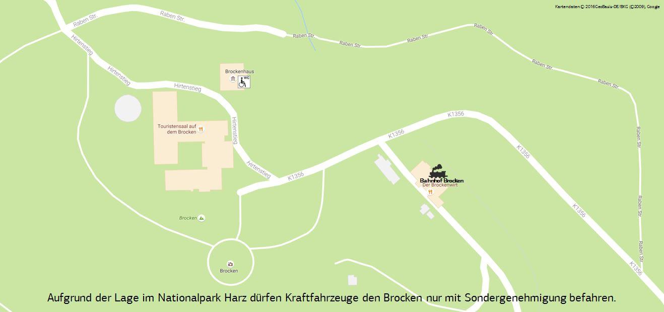Kartenausschnitt Brocken