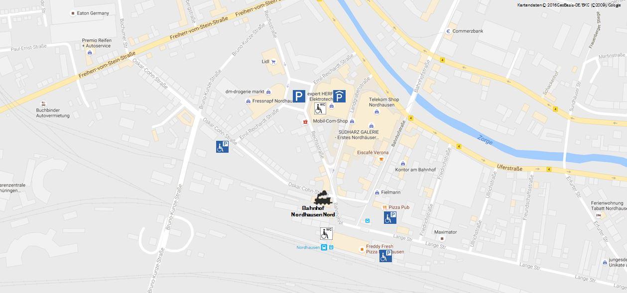 Kartenausschnitt Dampfladen Nordahausen