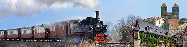 Dampfzug und Quedlinburg