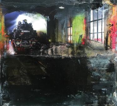 "Collage ""Dampflok 99 6001-4"""