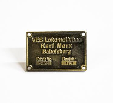"Pin Typenschild ""Babelsberg"""