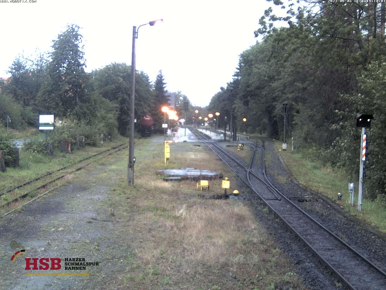Webcam des Bahnhofs Drei Annen Hohne der Harzer Schmalspurbahn
